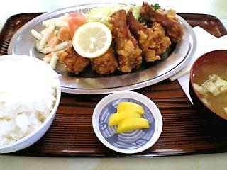 から揚げ定食¥750