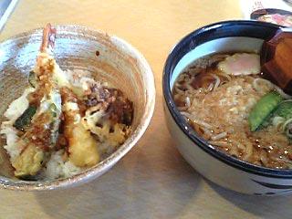 うどん+天丼セット\609