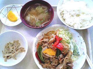 豚肉きのこ炒め\450