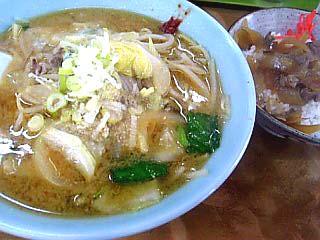 味噌ラーメン+ミニ牛丼