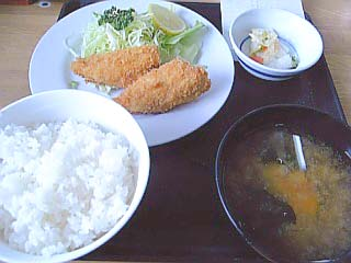 アジフライ定食\850