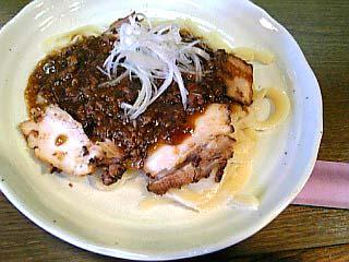 刀削麺チャーシュー入り\750