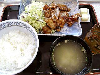 豚みそ炒め定食\480