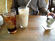 冷コーと冷カフェオレ