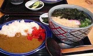 ミニ特製カレーとうどんセット\800