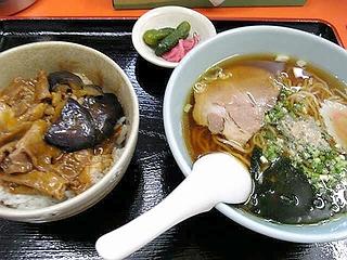 豚みそ丼+ミニラーメン\8?0
