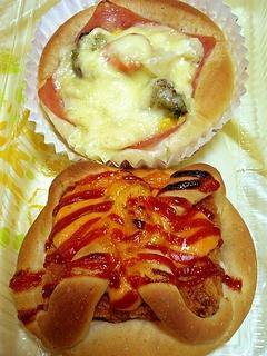 野菜グラタンパン+エビカツパン