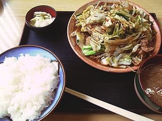 野菜炒め定食\780