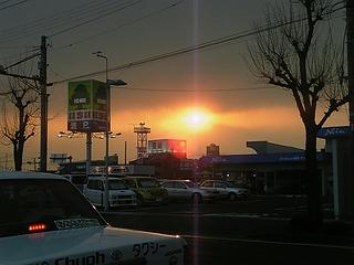 鎌田交差点付近