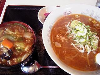 みそラーメンと中華丼ミニ