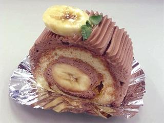 福々和饅頭のバナナロールケーキ