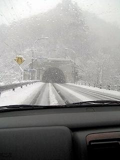 吹雪の栗子峠