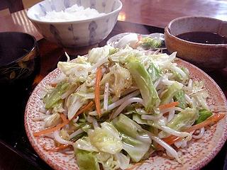 野菜炒め定食\850