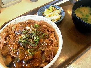 麻婆茄子牛丼