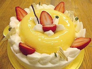 いちごのぷりんケーキ