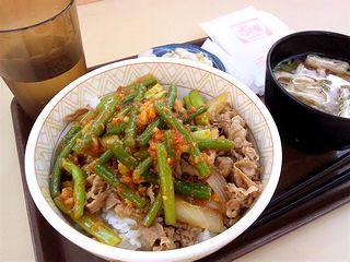 ニンニク牛丼