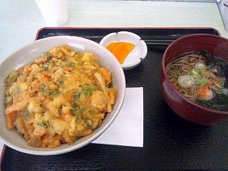 イカかき揚げ丼セット\550
