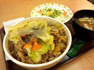 春キャベツ牛丼\380