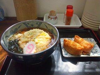 天ぷらそばといなり