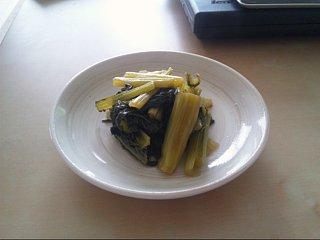 仙台雪菜の煮浸し