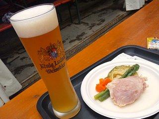 ビールとアイスバイン