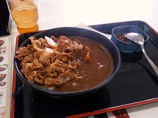 牛丼+カレー