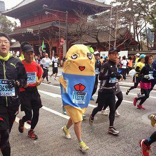 東京マラソンを走るふなっしー