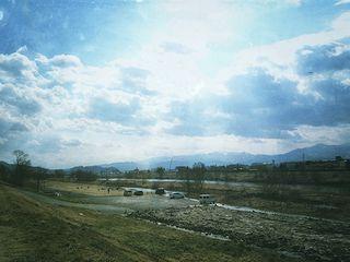 花見山の駐車場