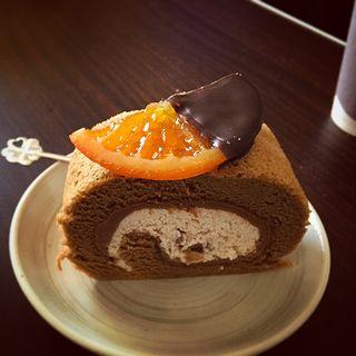モンブランロールとオレンジチョコ