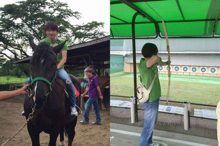 乗馬とアーチェリー